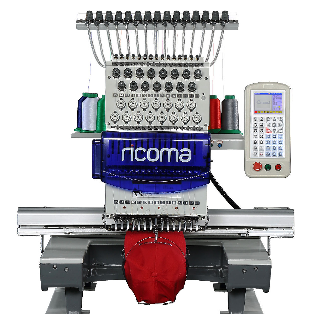 RiCOMA 1501PT 15-Needle Embroidery Machine with Stand and Software