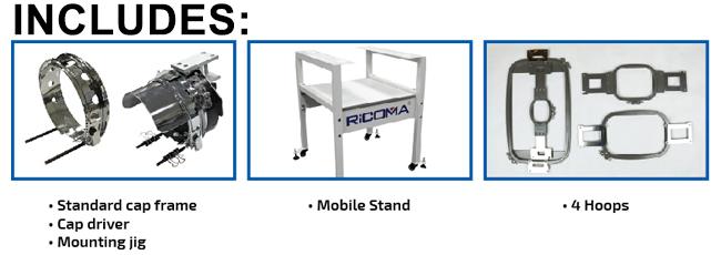 The RiCOMA EM-1010 10-needle embroidery machine
