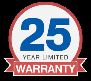Industry Leading 25 Year Limited Warranty