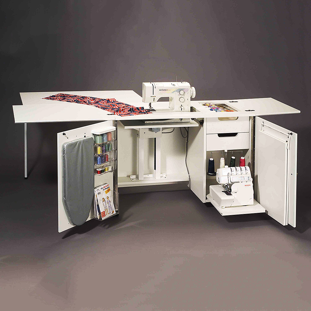 Sylvia Sewing Cabinets Sewing Cabinets Model 5400 Ultimate Sew Serge Credenza