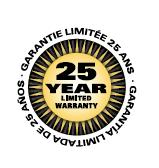 Limited 25 Year Warranty