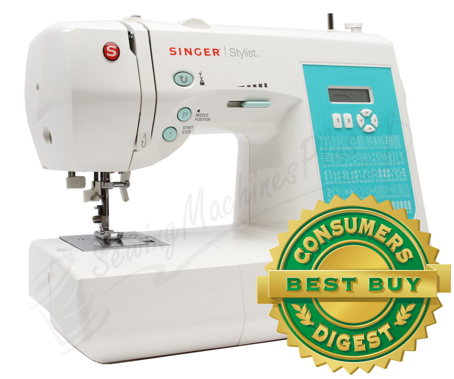 Singer Stylist 40 Sewing Machine 40Stitch Consumer Digest Beauteous Reverse Button On Sewing Machine