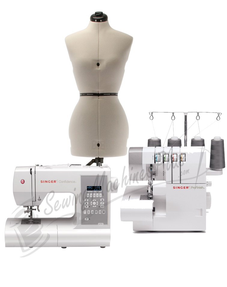 Singer 40 Sewing Machine 40CG40 Serger With Dress Form Combo Simple Overlock Sewing Machine Singer