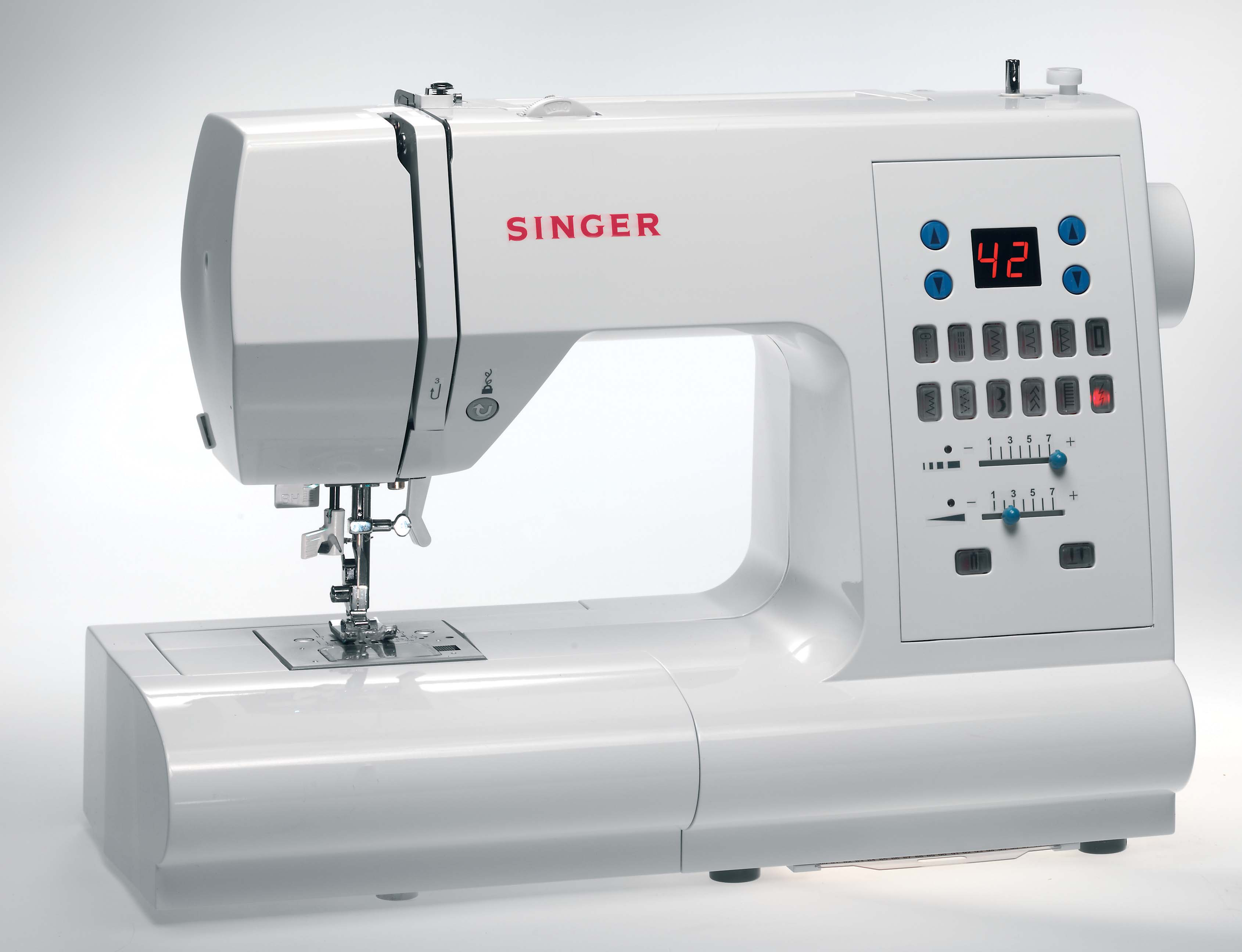 singer 7468 fully electronic sewing machine w 140 stitch. Black Bedroom Furniture Sets. Home Design Ideas