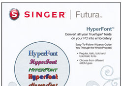 Singer Futura XL-400 HyperFont Software