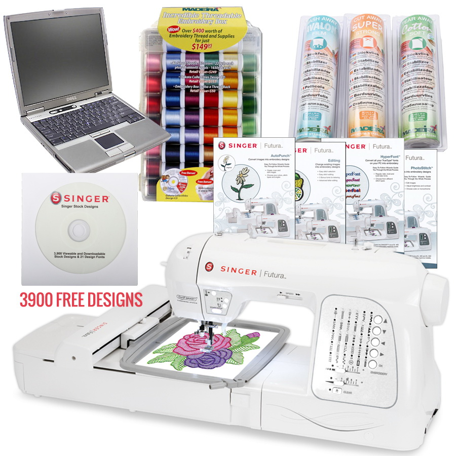 Singer XL-420 Futura Emboidery Machine I WANT IT ALL PACKAGE
