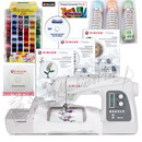 Singer Futura XL-550 w/ BONUS PACKAGE! Software, Stabilizer, Thread, 3900 FREE Embroidery Designs, & More!
