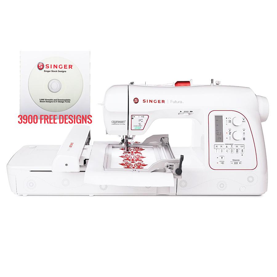 Singer XL-580 Futura Emboidery Machine - Plus Singer 3900 FREE Embroidery Designs
