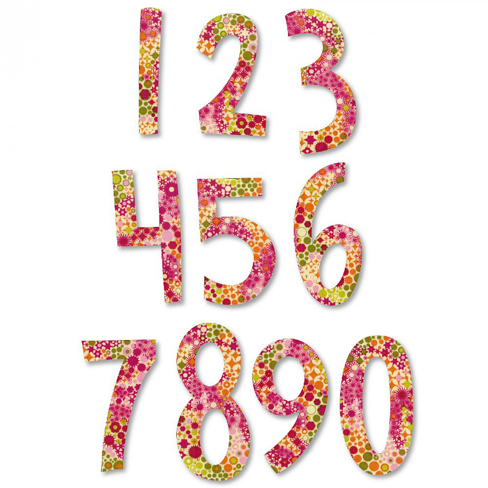 Sizzix Bigz Alpha 2 Die Set Fresh Blossoms Numbers 661653 New Free P /& P