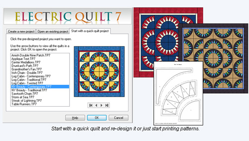 Electric Quilt 7 Quilting Software Eq7