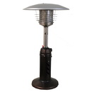 Sunheat Patio Heater Table Top Round Golden Hammer Finish