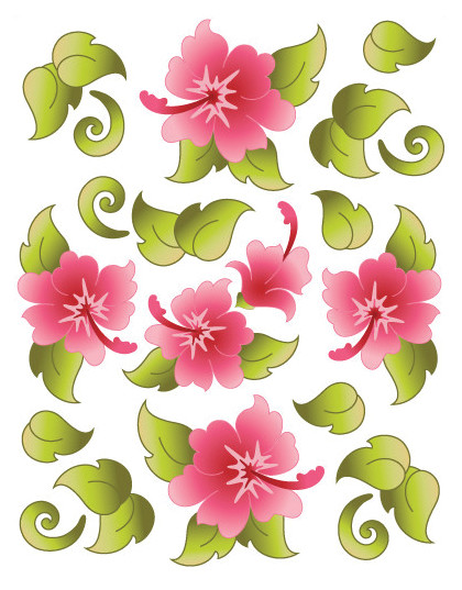 Hawaiian Holiday Pink Tattoo
