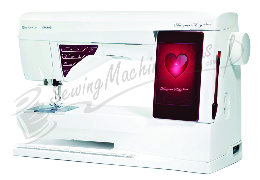 Husqvarna Viking Designer Ruby Deluxe Sewing And Embroidery Machine
