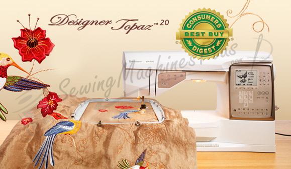 Husqvarna Viking Designer Topaz 40 Sewing Embroidery Machine Mesmerizing Husqvarna Topaz 20 Sewing Embroidery Machine