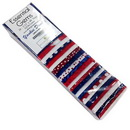Wilmington Prints Yankee Doodle 24 Pack - 2.5 inch x 44 inch Strips